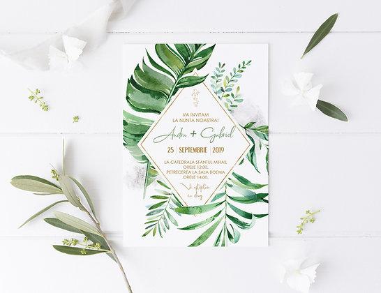 Invitatie majestic green
