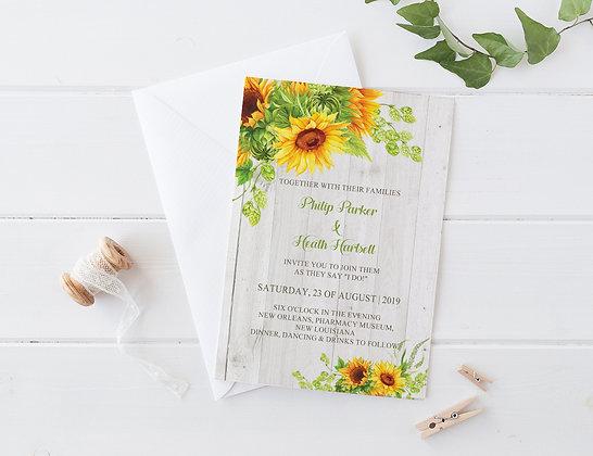 Invitatie sunny flowers