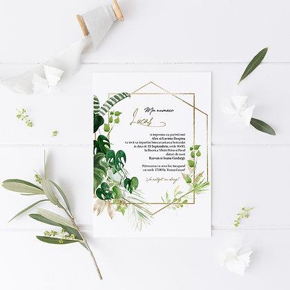 Invitatie botez  - tropical
