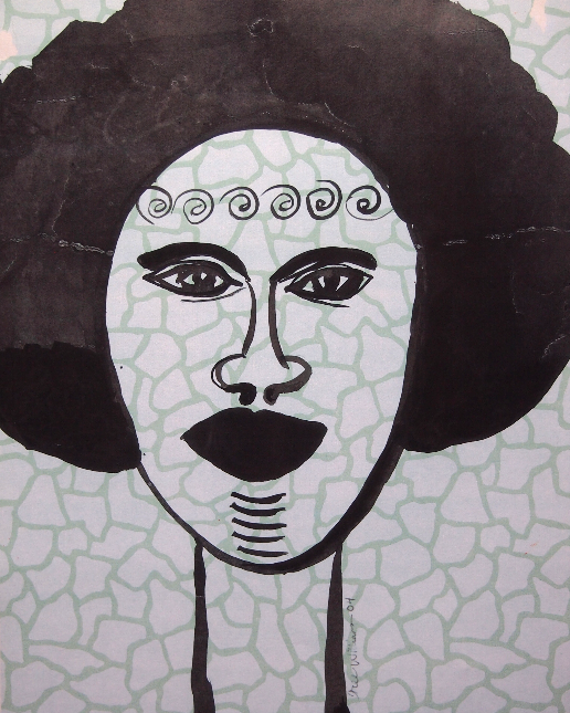 Black Woman with Afro