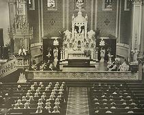 Basilica of Saint Adalbert interior, 1930's VFG Creations LLC, Giles Arts LLC