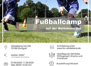 Fußballcamp im Sommer!