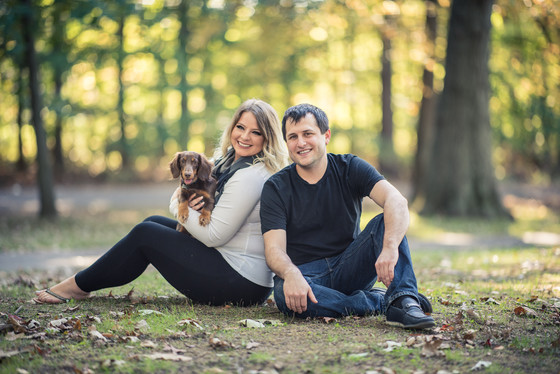 A Couple and a Dog at Genesee Valley Park