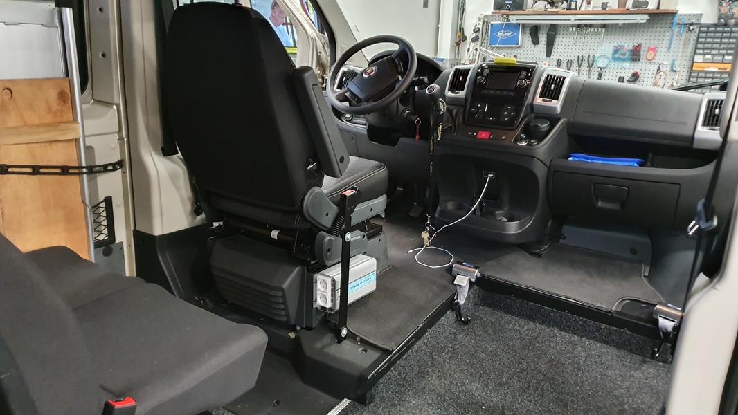 Udskæring til kørestol