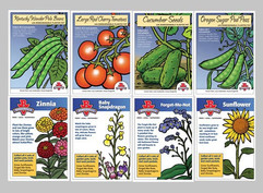 BURGERVILLE SEED PACKET LABELS
