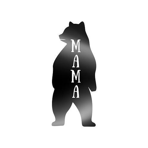Mama Bear Standing Two Feet Decal