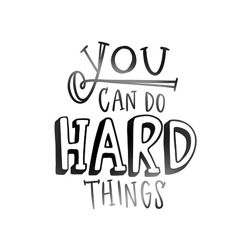 You Can Do Hard Things Decal