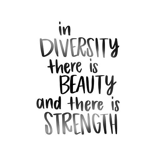 In Diversity There Is Beauty And There Is Strength Decal