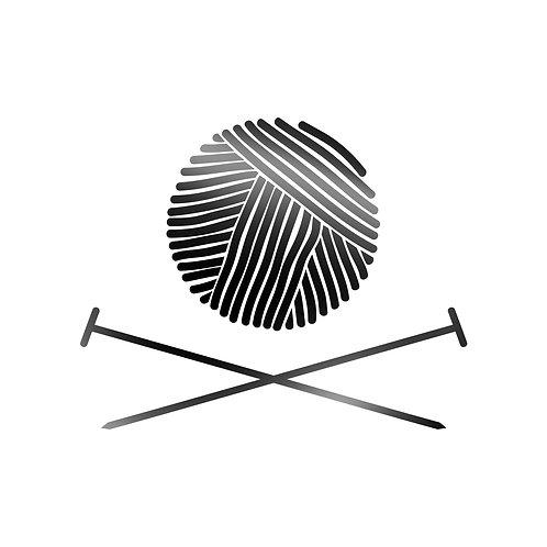 Yarn And Needle Decal