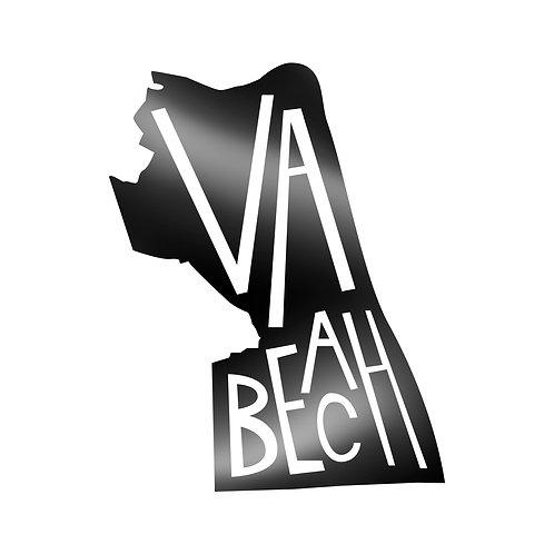 Virginia Beach Lettered Decal