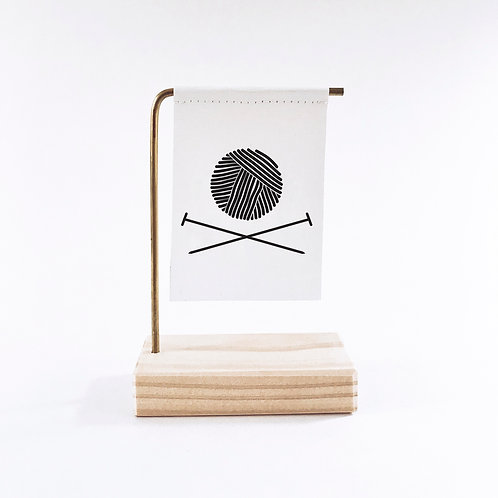 Yarn and Needles Standing Banner