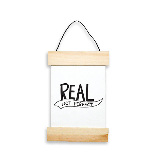 Real Not Perfect Hanging Banner