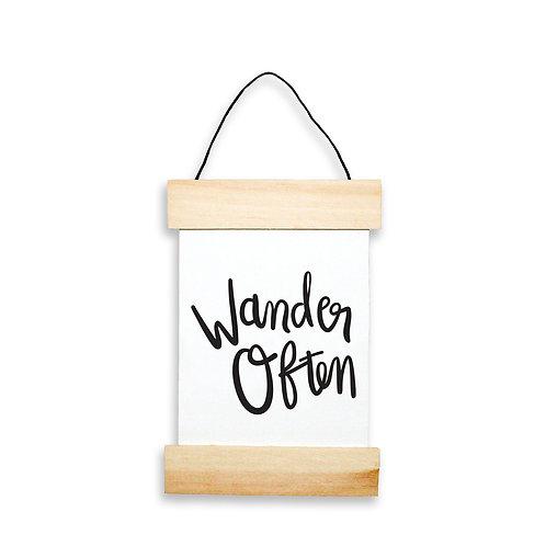 Wander Often Hanging Banner
