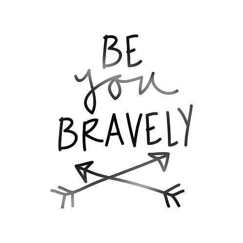 BeYou Bravely Decal