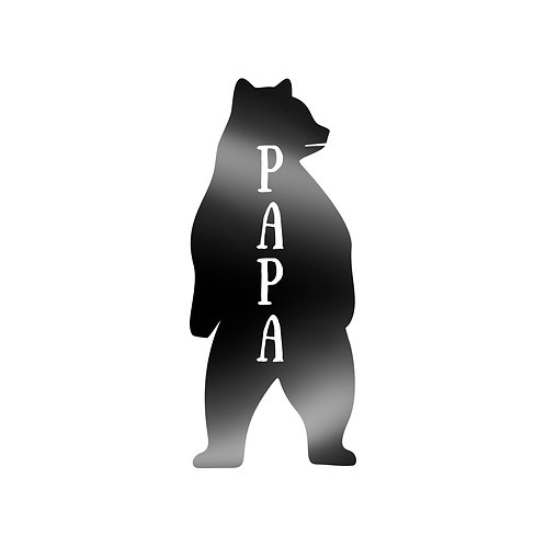 Papa Bear Standing On Two Feet Decal
