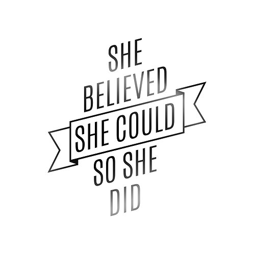 She Believed She Could So She Did Decal