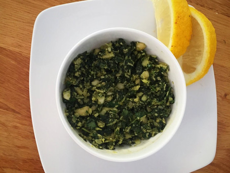Recipe: Basil and cashew pesto with fresh lemon