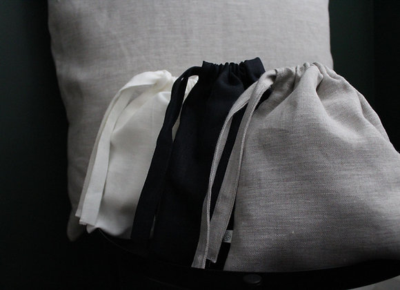 SEWN Pouch - White, Oatmeal or Navy