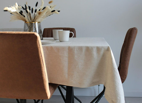 Table Cloth with Mitred Corner - Oatmeal