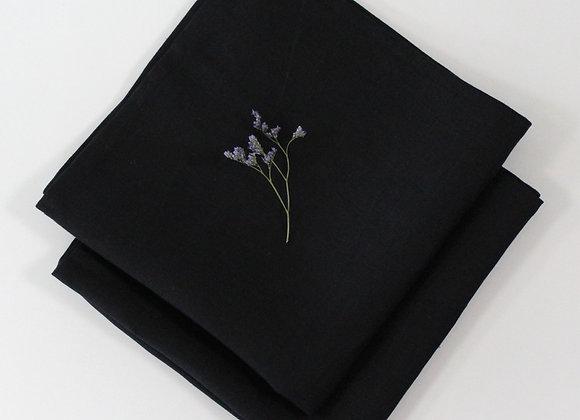 Irish Linen Napkins - 2 Black