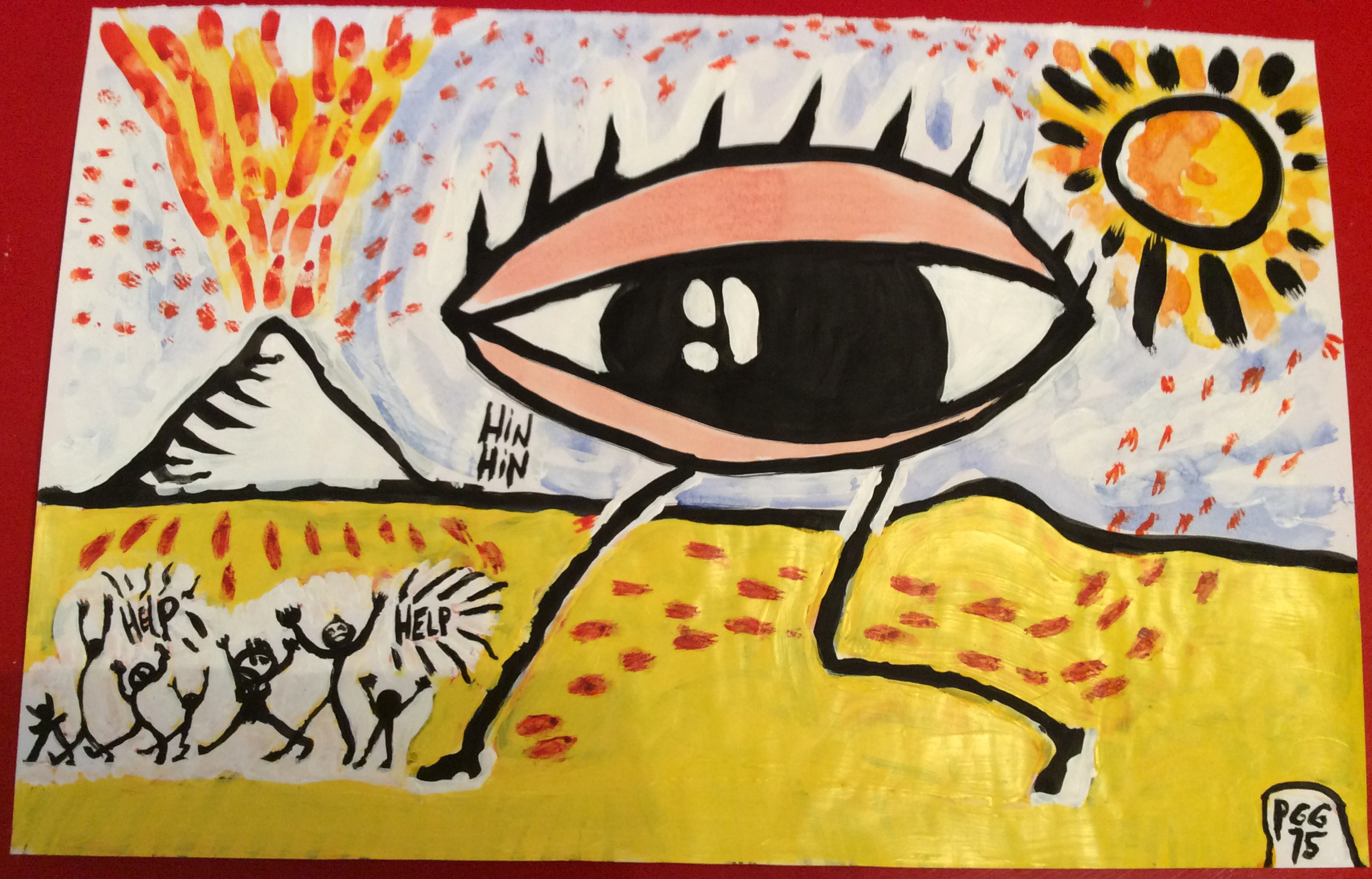 Oeil dans désert