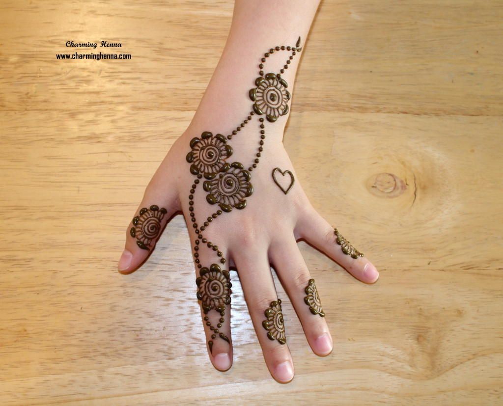 Floral Henna Pattern