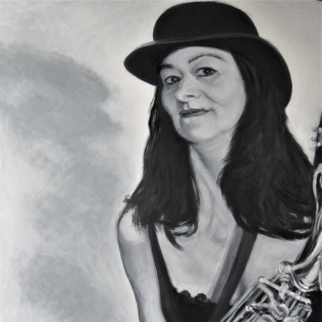 Katarina mit Saxophon 2