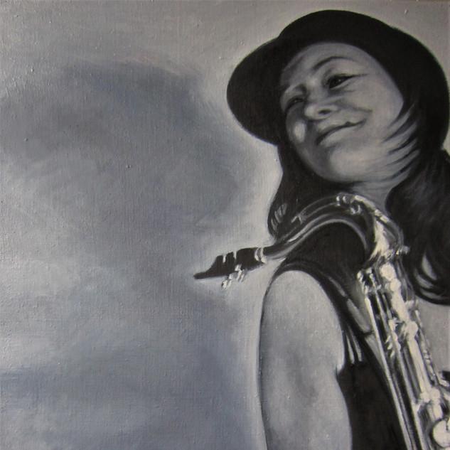 Katarina mit Saxophon 1