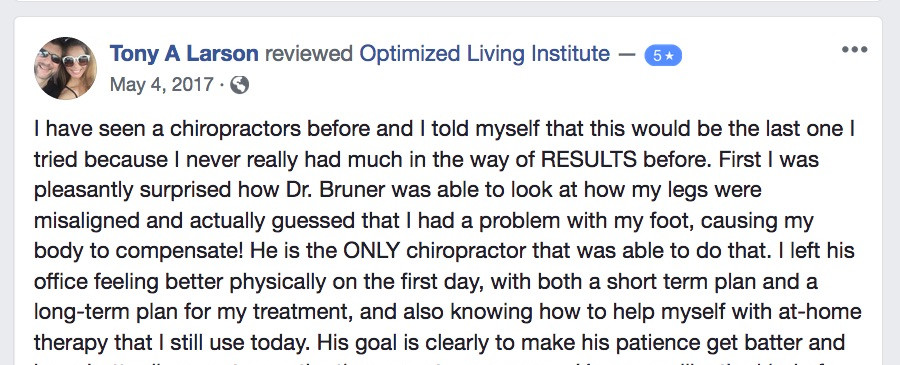 VA Testimonal for Drs. Bruner