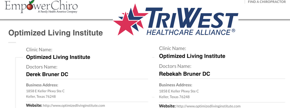 Drs. Bruner are in network with TriWest
