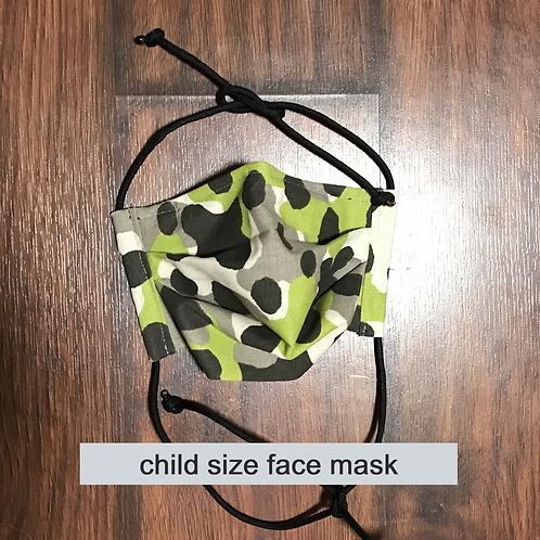 Camo Face Mask - Child