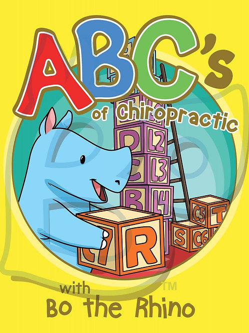 ABC's of Chiropractic Coloring Book with Bo the Rhino