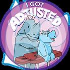 Sticker - I got Adjusted - Bo the Rhino.