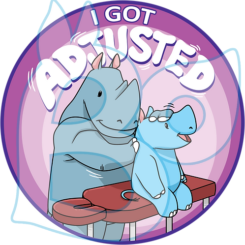 """I Got Adjusted"" – Chiropractic Adjustment Sticker"