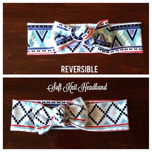Adult Colorful Diamond Knit Headband