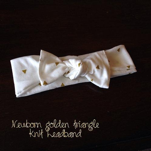 Golden Triangles Knit Headband