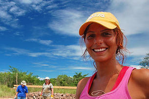 Smiling Volunteer for Habbitat for Human