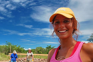 Smiling Volunteer for Habbitat for Human