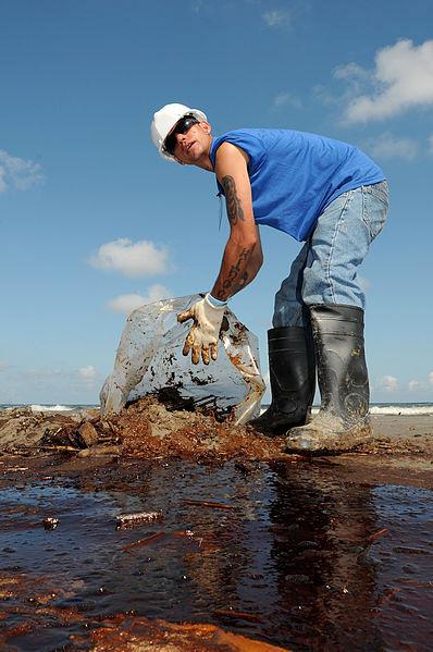 LFR - Oil Waste clean Up at Elmer's Isla