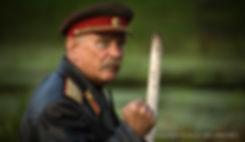 """Никита Михалков на съемочной площадке фильма """"Утомленные солнцем"""" (""""Цитадель"""") в окрестностях города Горбатов, Новгородская область, 23 июля 2008 года."""