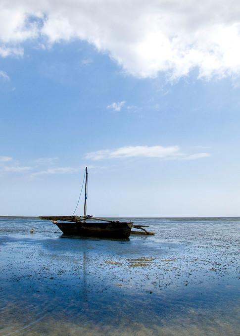 Dhow i det Indiske Ocean.