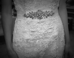 Brides lace dress