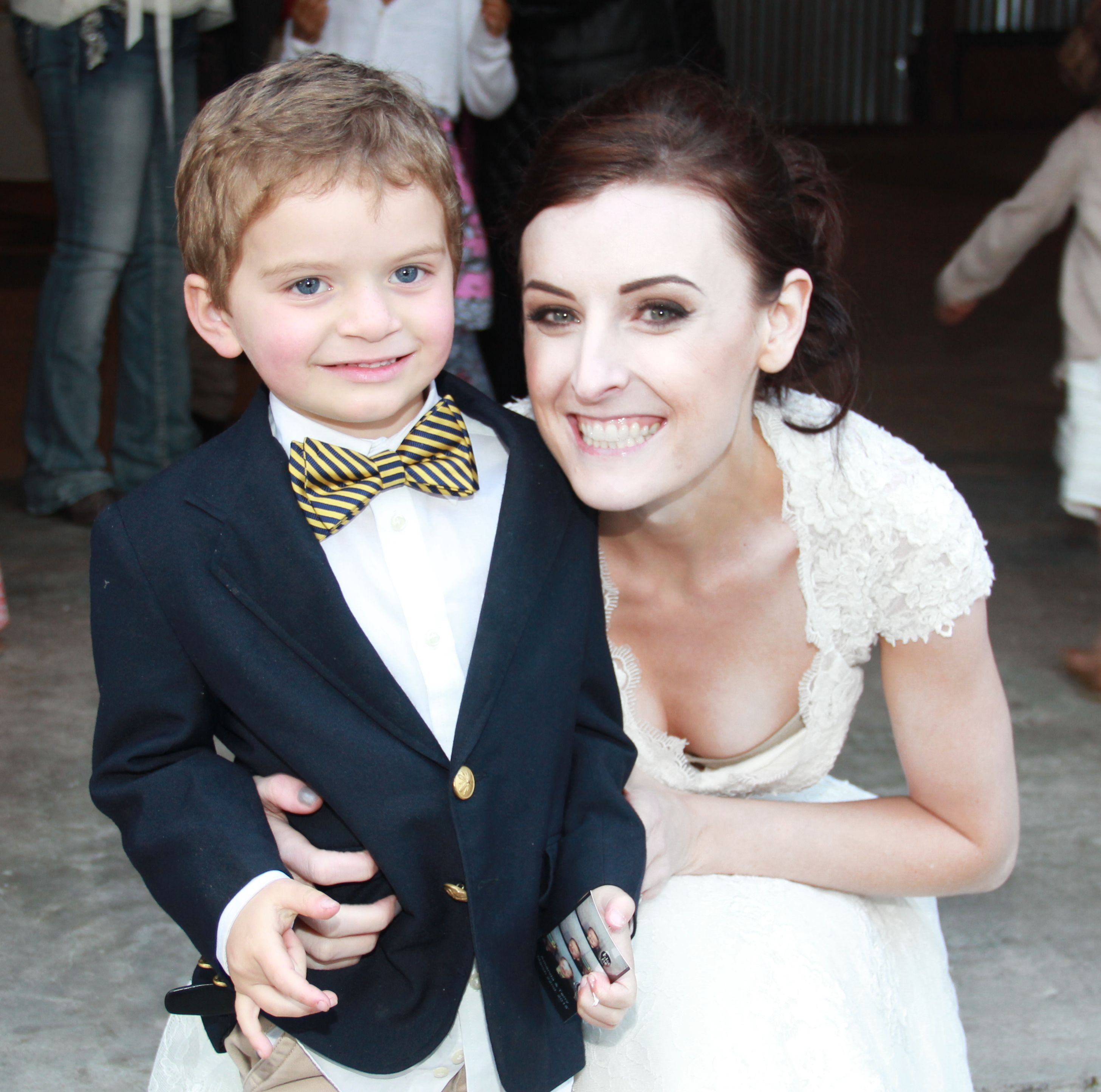 little boy with bride