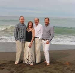 Family photo's on the beach