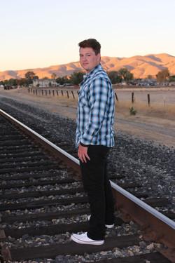 male high school senior photo shoot