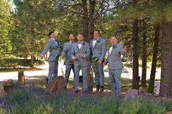 grooms men jumping