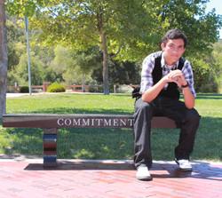 Male graduation senior photo