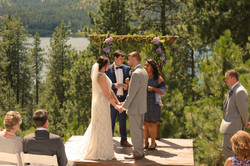 Marriage ceremony with stunning view