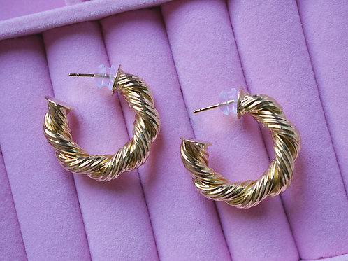 Golden Pretzel Hoops