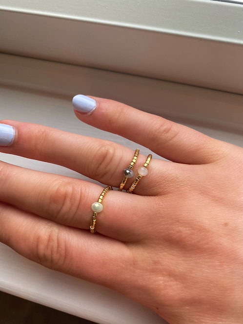 Pocket Crystal Rings